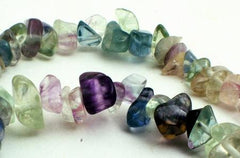 Enchanting Fluorite Chip Beads - Long 32-inch String