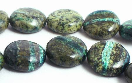 41 Haunting Beautiful Chrysocolla Button Beads