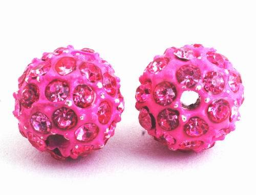 Sensuous Paradise Pink Crystal Charm Bead