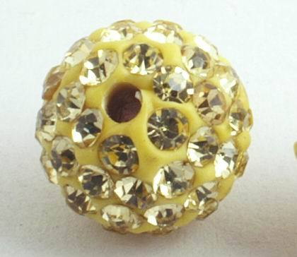 Iced-out Gold Charm Bead