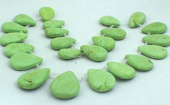 Graduated Lime-Green Gaspeite Teardrop Beads