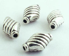 50 Silver Magical Swirl Rhombus Bead Spacers