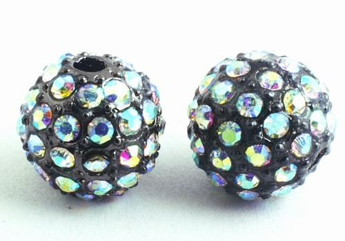 Rhinestone Fully-Bling Disco Ball Charm Bead
