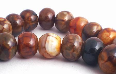 Magnificent 15mm Desert Fire Agate Rondelle Beads - Big & Very Heavy!