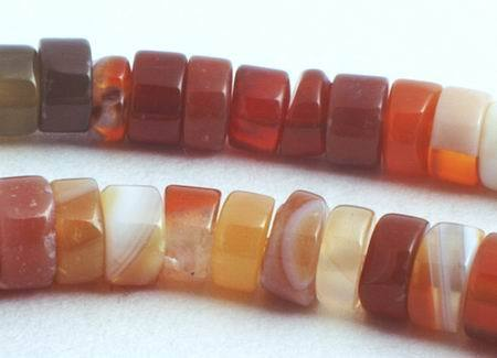 170 Distinctive Burnt-Red Brazilian Agate Heishi Beads