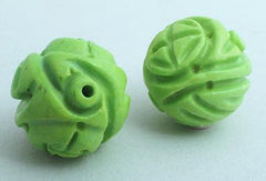 4 Large 15mm Apple Green Gaspeite Balls