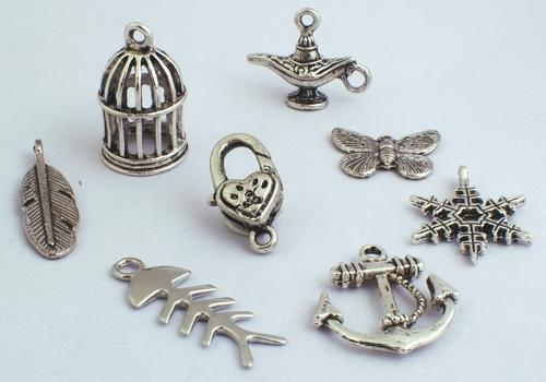 4 to 10 Silver Charms for Charm Bracelets