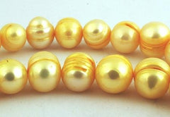 Large 10mm Sunflower Yellow Summer Pearls