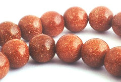 Sparking Magical GoldStone Beads - 6mm or 8mm