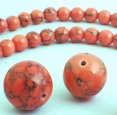 Beautiful Rose Pink Howlite Turquoise Beads - 6mm or 14mm