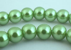 Breathtaking Olive Green Pearl Beads - 8mm