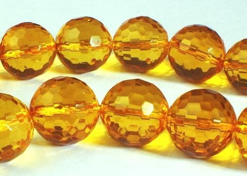 14 Large Faceted Citrine Beads - 14mm