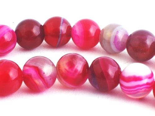 Gorgeous Violet Red 6mm Agate Beads