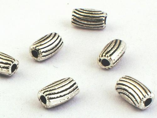50 Snazzy Silver Barrel Bead Spacers - For Classy Jewelllery!