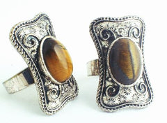 Enchanting Tigereye Victorian Ring - Relieves Worries!