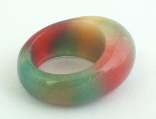Glamorous Green & Red Jade Ring - Jade is a symbol of purity and serenity!