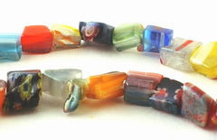 Colourful Picasso Millefiori Nugget Chip Beads