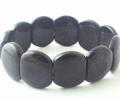 Chunky Glittering Bluestone Bracelet - Great for a night out!