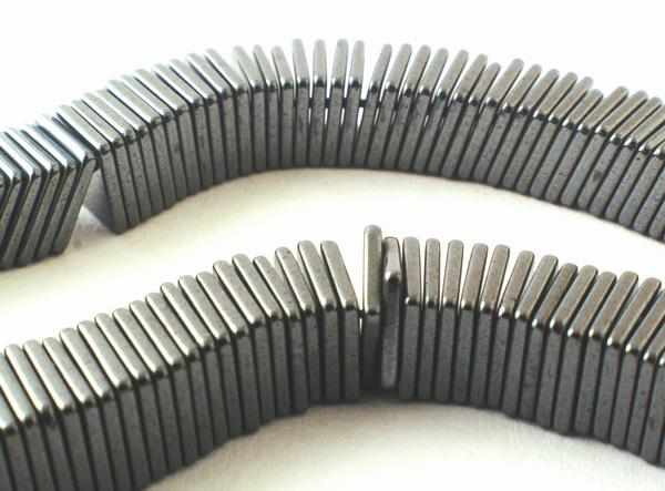 400 Unusual Sleek Matt Hematite Square Wafer Heishi Beads - 6mm or 4mm