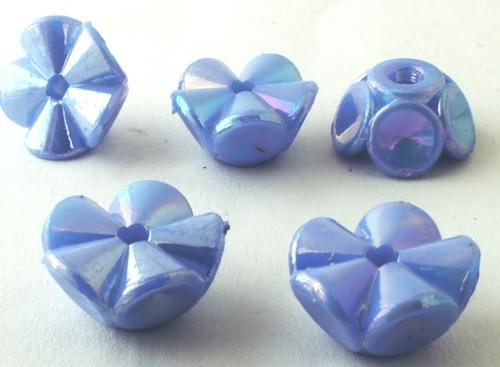 30 Blue Flower Pony Beads