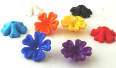50 Large 17mm Petal Pony Beads - 6 Fun Colours