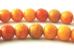 Beautiful 6mm Tangerine Orange Jasper Beads