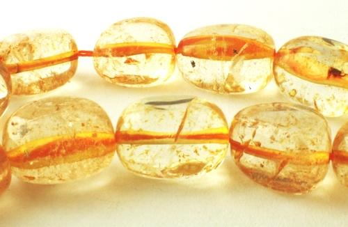 25 Heavy Morning-Yellow Citrine Nugget Beads