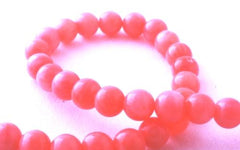 Romantic 4mm Flamingo Pink Coral Beads