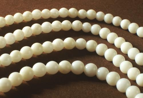 Pure White Coral 4mm Beads