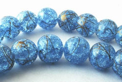 Shiny Sparkling Rutile  Baby Blue Crystal Beads- 8mm or 10mm