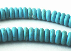 160 Light Blue Versatile Turquoise Rondelle Beads
