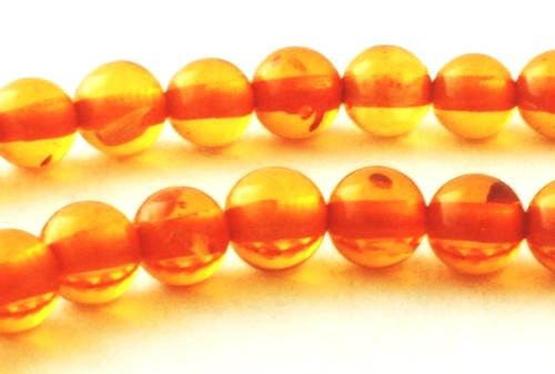 Versatile Light Brandy Amber Beads- 4mm or 8mm