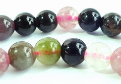 Rich Natural Watermelon Tourmaline Beads - 3mm , 4mm or 7mm