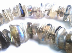 Sparkling Labradorite Small Nugget Beads - Dramatic!