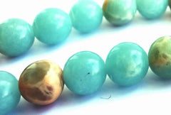 Refreshing Aqua-Blue Snakeskin Jasper Beads- 6mm or 8mm