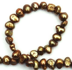 Oriental Honey-Gold Biwa Pearls
