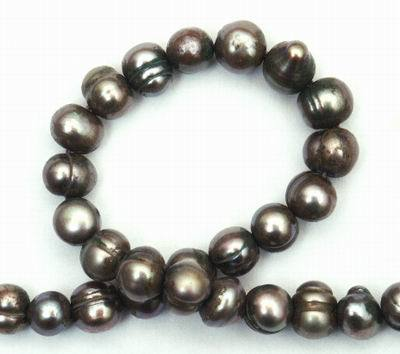 Silky Oriental Abalone Grey Pearls