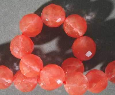 Passionate Cherry Quartz Faceted Beads - Large 10mm
