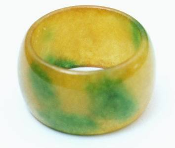 Seductive Yellow & Green Jade Ring