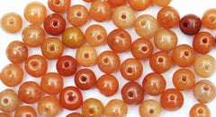 100 Chinese Red Jade Beads - 4mm, 6mm or 8mm