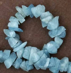 Long Chunky Aquamarine Chip String