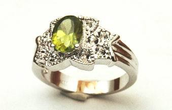 Cubic Zirconia Yellow Diamond Ladies Ring