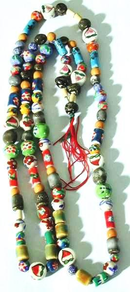 Long Chinese Country Bead Necklace