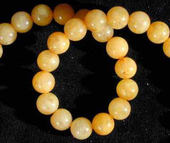 Zesty Yellow Jade Bead String - 4mm, 6mm & 8mm