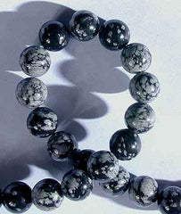 Silky Eye-catching Snowflake Obsidian - 8mm