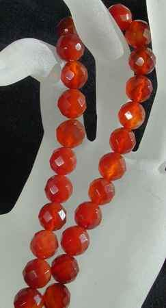 Royal Faceted Carnelian Beads - 10mm