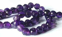 Regal Amethyst Faceted Bead Strand - 6mm