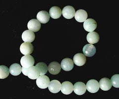 Misty Amazon Jade Beads - 4mm, 6mm or 8mm