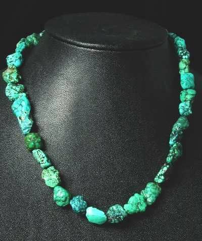 Stunning Chinese Turquoise Nugget Necklace