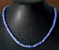 Striking Blue Catseye Bead Necklace